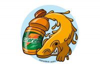 The origin of the Gatorade brand. Colour drawing for Gazzetta dei Piccoli (Toddlers' Gazette) column of the Gazzetta di Parma (Gazette of Parma)