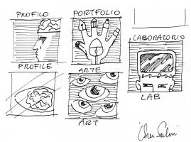 Bozzetti a biro icone graphic design
