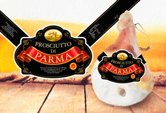 "Parma Ham ""Black Label"" whole band with bone"